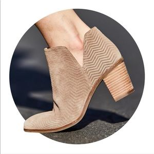 Lucky Brand Suede Taupe Pickla Bootie